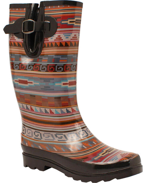 Blazin Roxx Perry Tribal Rain Boots - Round Toe Ro, Multi, hi-res
