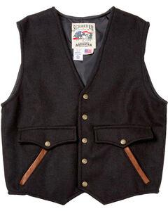 Schaefer Outfitter Men's Black Stockman Melton Wool Vest - XLT, Black, hi-res