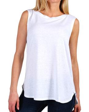 Shyanne Women's White Boxy Knit Tank, White, hi-res