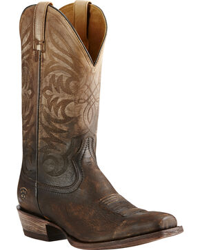 Ariat Breakthrough Ombre Cowboy Boots - Square Toe, Chocolate, hi-res