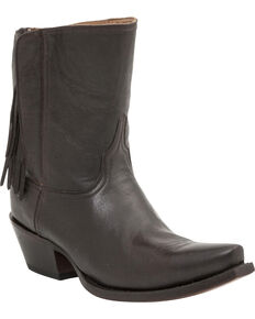 20182017 Boots Lucchese Womens Handcrafted 1883 Flannery Fringe Zipper Boot Snip Toe Best Deals