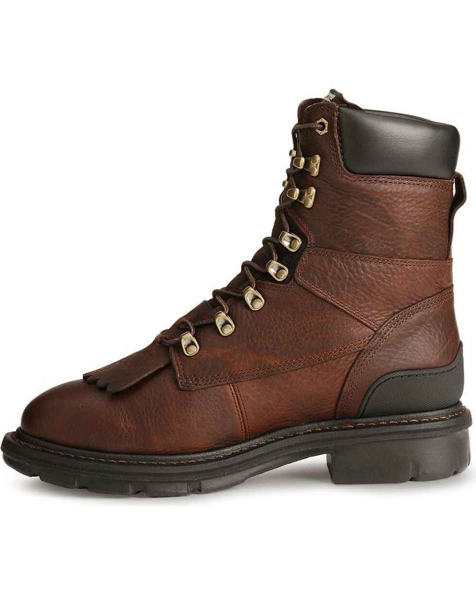 "Ariat Hermosa XR 8"" Lace-Up Work Boots, Redwood, hi-res"