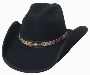 Bullhide Apache Pass Premium Wool Cowboy Hat, Black, hi-res