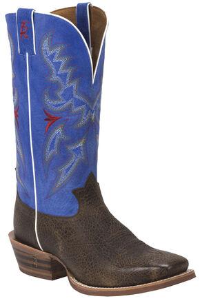 Tony Lama Blonde Bonham 3R Western Cowboy Boots - Square Toe, Brown, hi-res