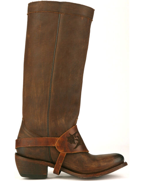 Junk Gypsy by Lane Chocolate Southbound Fringe Boots - Round Toe , Chocolate, hi-res