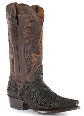 El Dorado Caiman Cowboy Boots - Snip Toe, Chocolate, hi-res
