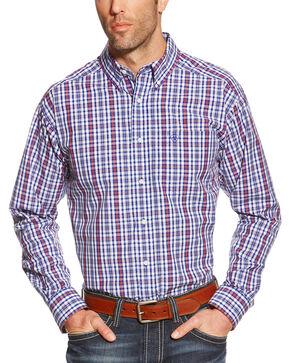 Ariat Pro Series Jedd Plaid Classic Fit Western Shirt, Blue, hi-res