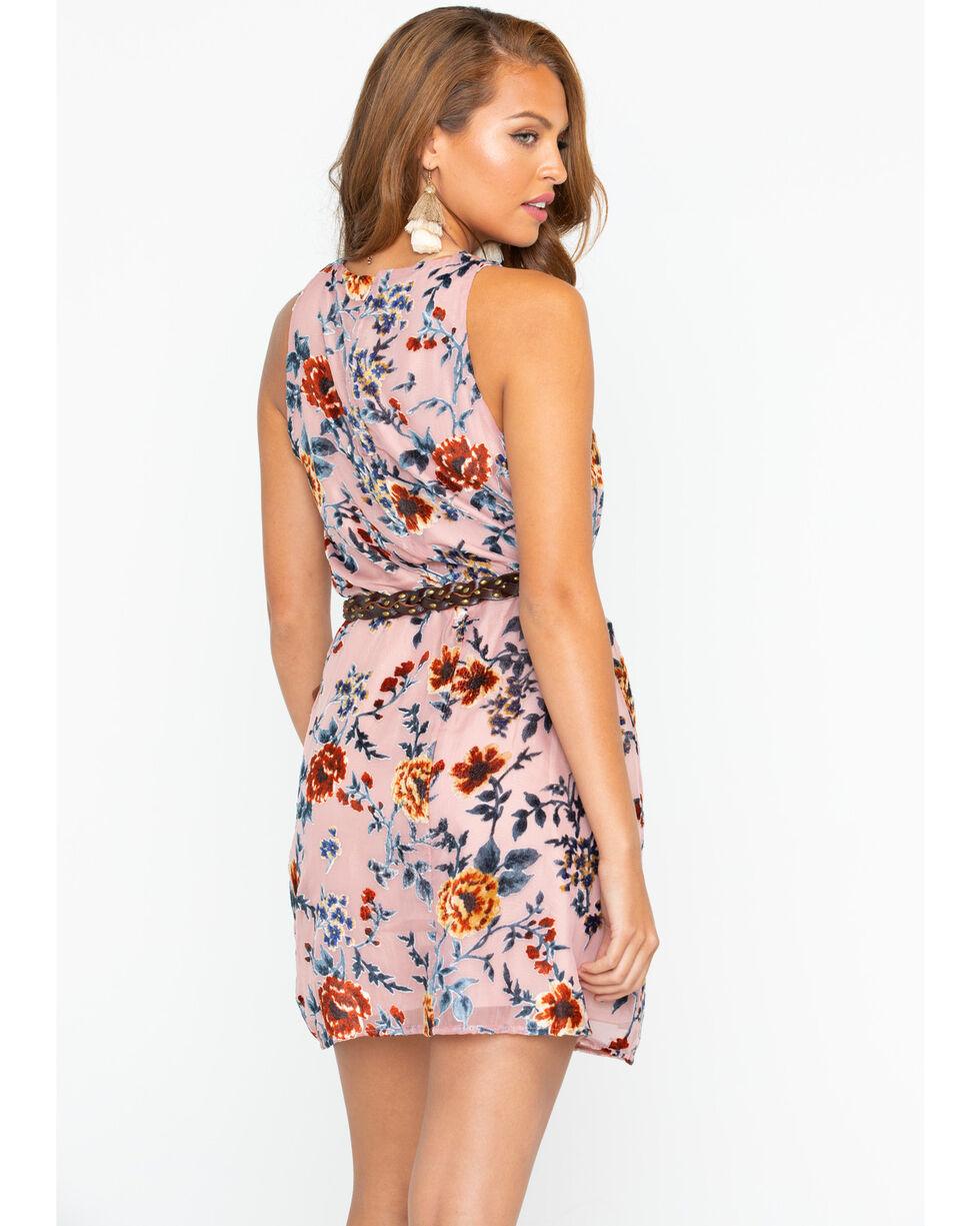 Miss Me Women's Pink Electric Boom Floral Dress , Pink, hi-res