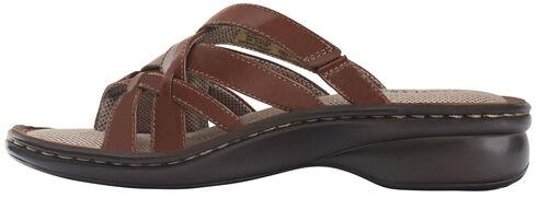 Eastland Women's Cinnamon Lila Thong Sandals , Brown, hi-res