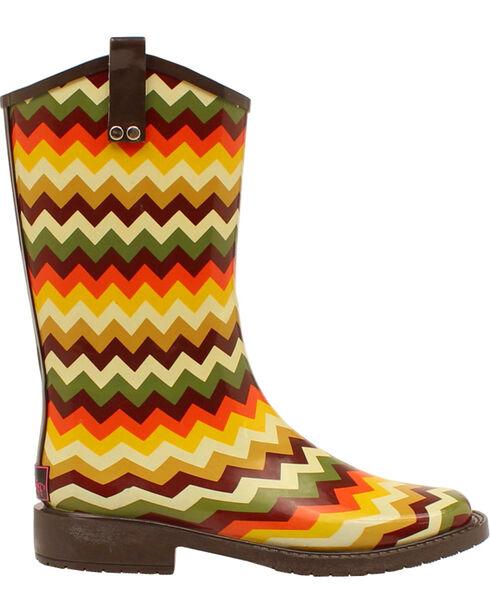 Blazin Roxx Clara Chevron Rain Boots - Square Toe , Multi, hi-res