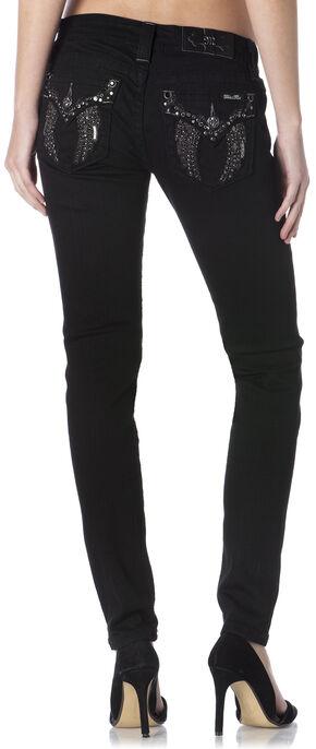 Miss Me Women's Black Flap Pocket Skinny Jeans, Black, hi-res