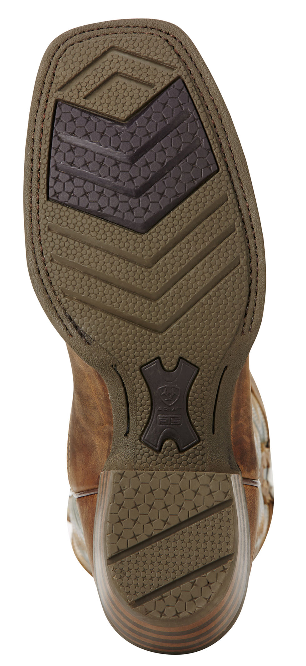 Ariat Neon Lime Futurity Performance Cowboy Boots - Square Toe , Tan, hi-res
