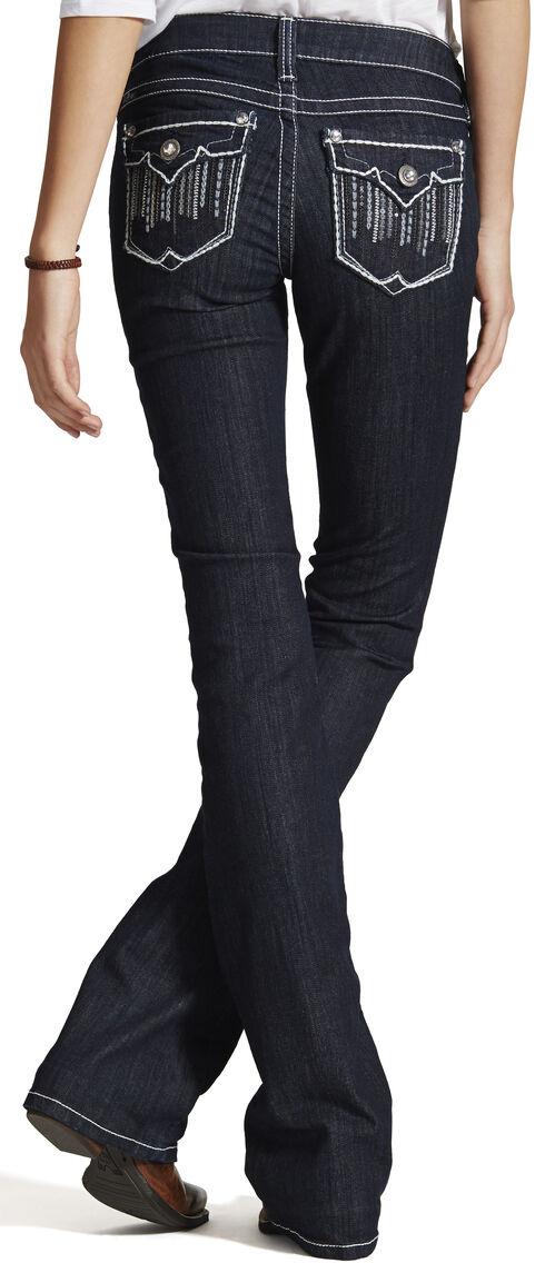Ariat Women's Ruby Cascade Flap Bootcut Jeans, Blue, hi-res