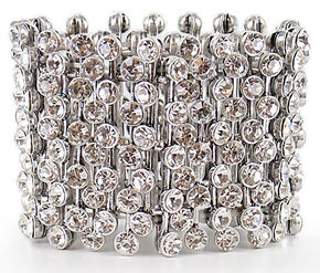 Shyanne Women's Bling Stretch Bracelet, Silver, hi-res