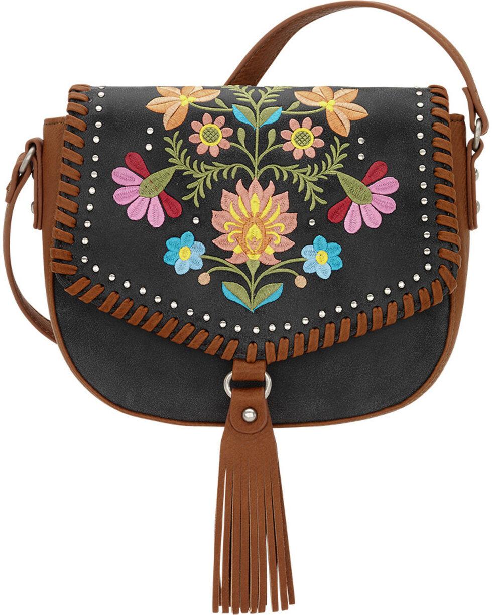 American West Charcoal Grey Women's Maya Flap Crossbody Bag , Charcoal Grey, hi-res