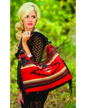 STS Ranchwear Reina Serape Large Handbag, Red, hi-res