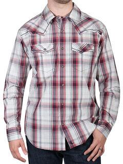 Cody James Men's Gold Nugget Plaid Western Shirt, Tan, hi-res