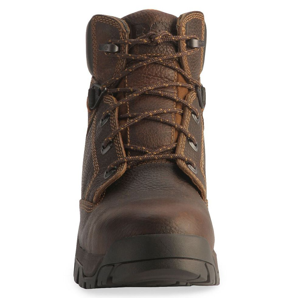 """Timberland Pro Brown 6"""" Helix Boots - Composite Toe, Brown, hi-res"""