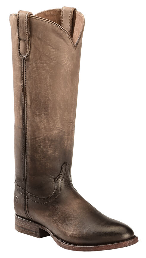 Ariat Ombre Roper Cowgirl Boots - Round Toe, Chocolate, hi-res