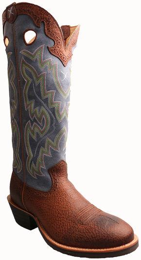 "Twisted X Navy 17"" Buckaroo Cowboy Boots - Round Toe, Peanut, hi-res"
