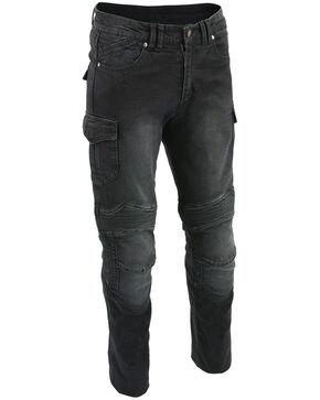 "Milwaukee Leather Men's Black 32"" Aramid Reinforced Straight Cut Denim Jeans - Big, Black, hi-res"