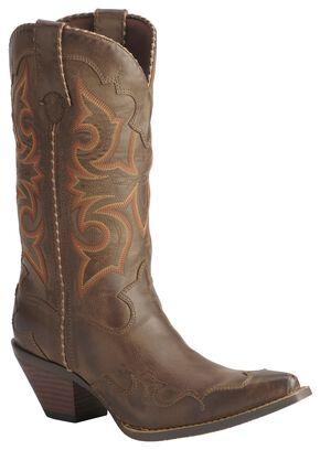 Durango Rock N' Scroll Cowgirl Boots, Saddle Tan, hi-res