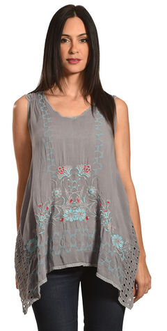 Johnny Was Women's Julian Handkerchief Tunic , Blue, hi-res