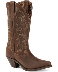 Laredo Access Cowgirl Boots - Extended Calf Sizes - Snip Toe, , hi-res