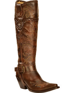 Corral Vintage Studded Harness Cowgirl Boots - Snip Toe, , hi-res