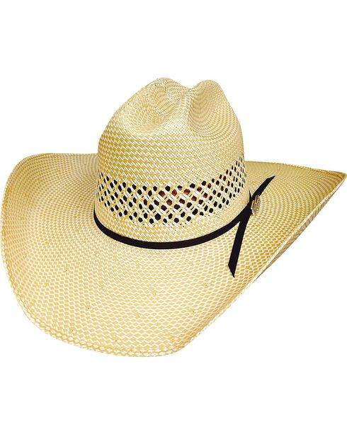 Bullhide Justin Moore Lettin' The Night Roll 100X Shantung Straw Cowgirl Hat, Natural, hi-res
