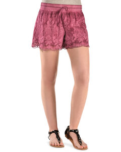 Black Swan Pink Queen's Lace Shorts, Pink, hi-res
