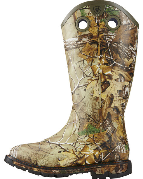 Ariat Men's Conquest Waterproof Camo Rubber Buckaroo Boots - Square Toe, Camouflage, hi-res