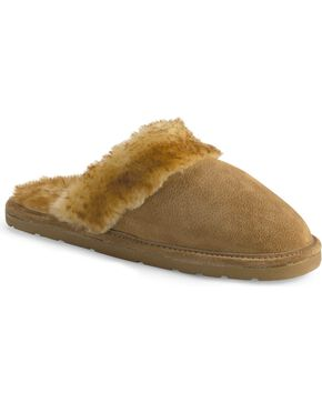 Women's Fleece Lined Scuff Slipper, Chestnut, hi-res