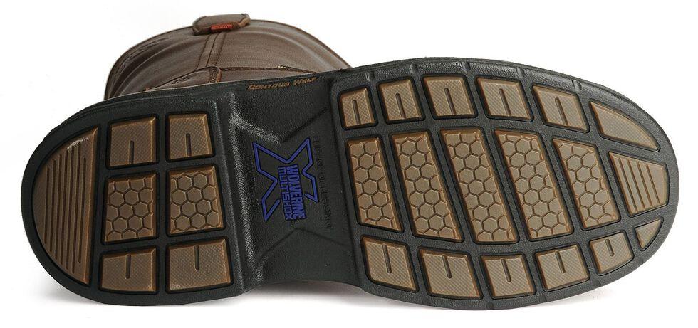 Wolverine Men's MultiShox Buccaneer Waterproof Wellington Work Boots - Round Toe, Dark Brown, hi-res