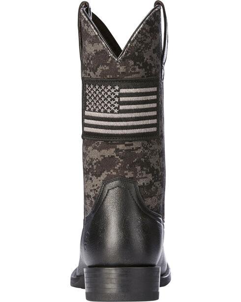 Ariat Men's Black Camo Sport Patriot Western Boots - Round Toe , Black, hi-res
