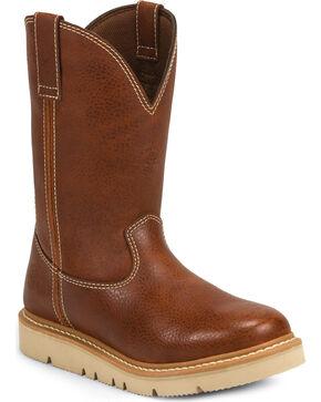 Justin Men's Jacknife Pull-On Work Boots - Soft Toe, Tan, hi-res