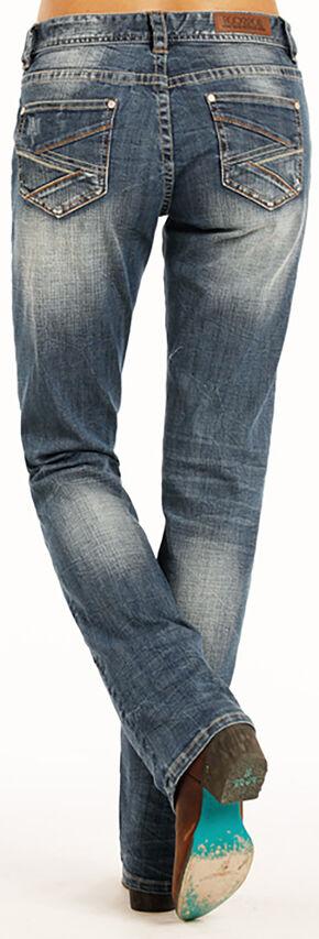 Rock & Roll Cowgirl Women's Indigo Simple Pocket Boyfriend Jeans - Straight Fit , Indigo, hi-res