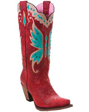 Junk Gypsy by Lane Women's Day Dreamer Strawberry Cowgirl Boots - Snip Toe, Red, hi-res