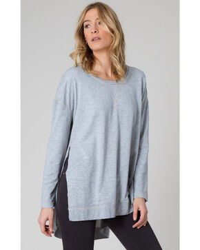 Z Supply Women's Grey Weekend Shirt, Hthr Grey, hi-res
