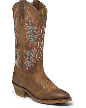 "Nocona Women's 12"" Brown Vintage Cowgirl Boots - Round Toe, Brown, hi-res"