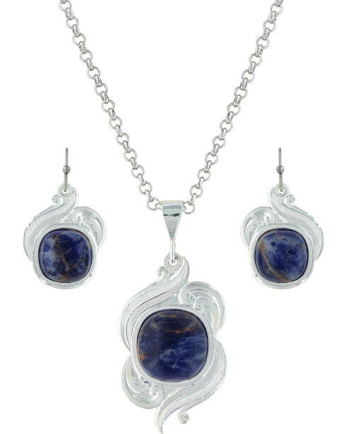 Montana Silversmiths Women's Midnight Wind Jewelry Set , Silver, hi-res