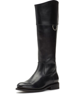 Frye Women's Black Jayden D Ring Boots - Round Toe , Black, hi-res