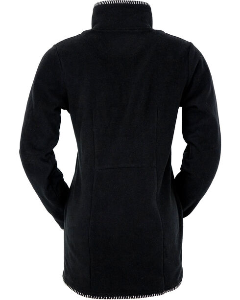 Outback Trading Company Women's Sande Fe Embroidered Fleece Jacket, Black, hi-res