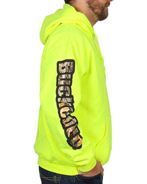 BuckedUp Men's Safety Green Hoodie , Black, hi-res