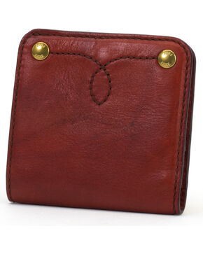 Frye Women's Small Campus Rivet Leather Wallet , Brown, hi-res
