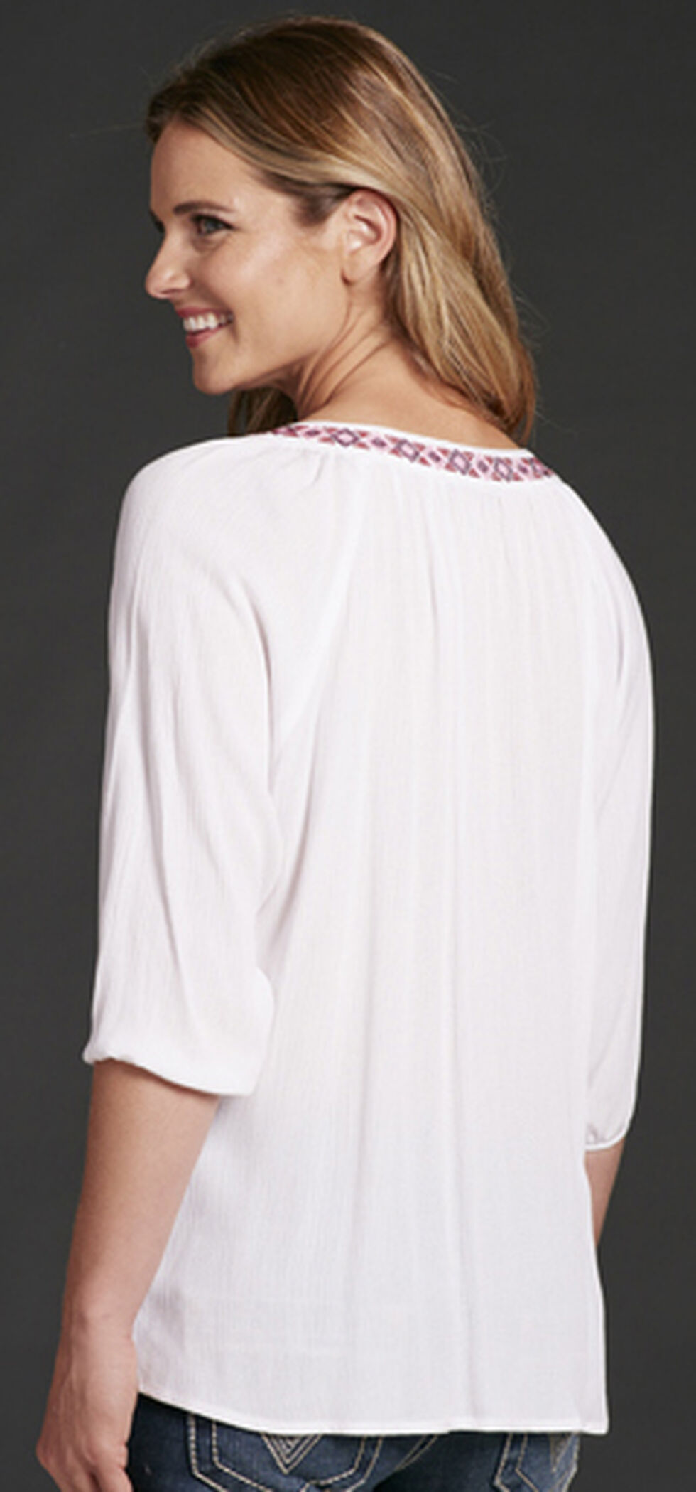 Cowgirl Up Women's Tassel Top, White, hi-res