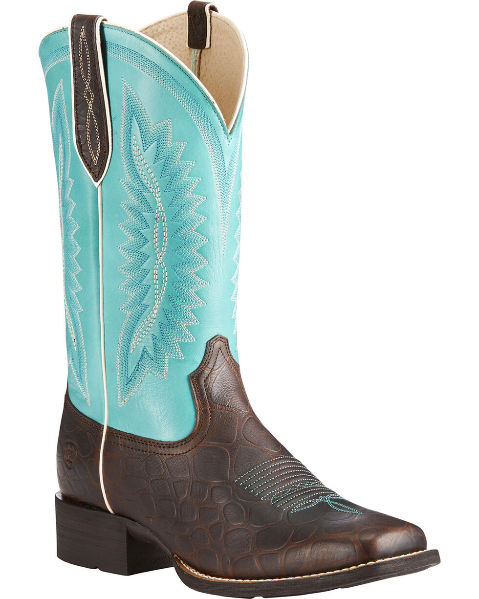 Ariat Women's Brown Quickdraw Legacy Western Boots - Square Toe , Brown, hi-res