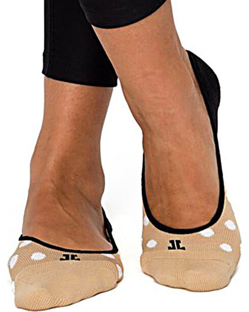 Bootights Women's Polka Dotted Low Ankle Socks, Beige/khaki, hi-res