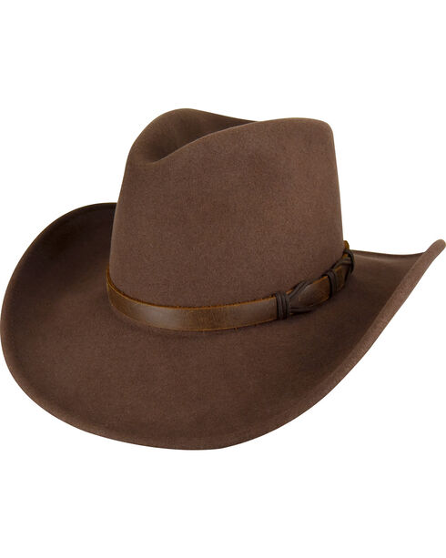 Bailey Men's Pecan Crockett Hat , , hi-res
