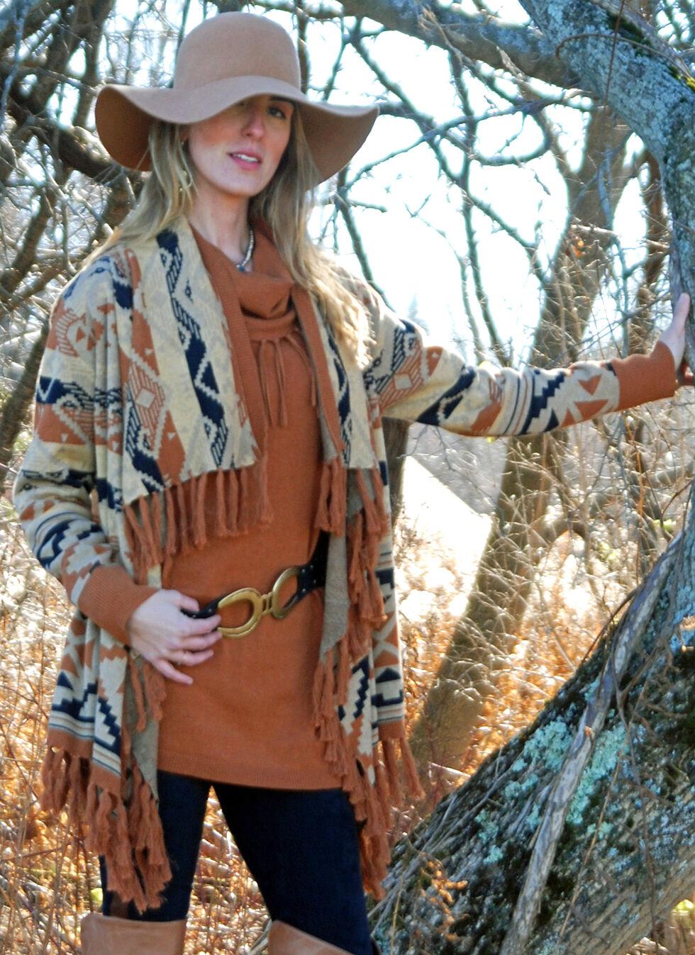 Tasha Polizzi Women's Azteca Blanket Cardigan, Camel, hi-res